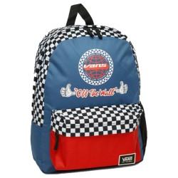 Vans Bmx Backpack Zaino a scacchi blue rosse e bianco VN0A46ZJ5TU1
