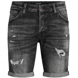 Jack & Jones Rick Fox Shorts pantalone corto in jeans nero 12185945