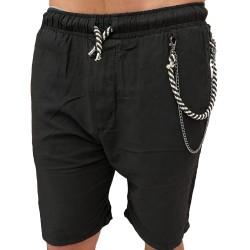 Gianni Lupo Shorts Lino Black FJ3269