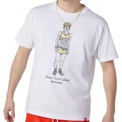 New Balance T-shirt Runners White MT11543