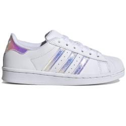 Adidas Superstar C Teens bianca con dettagli iridescenti FV3147