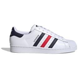 Adidas Superstar Bianca, Blue e Rossa FX2328