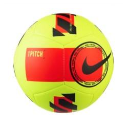 Nike Pitch Soccer Ball Giallo fluò rosso e nero DC2380-702