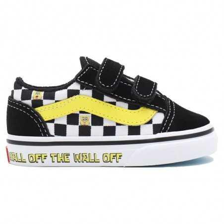Vans x Spongebob Old Skool V Velcro (1-4 anni) VN000D3Y9EK1