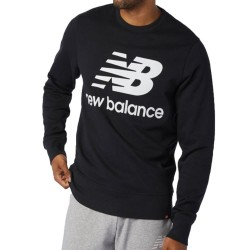 New Balance Essential Logo Crew White MT03577 BK