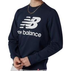 New Balance Essential Logo Crew White MT03560 ECL