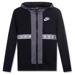 Nike Kids Sweatshirt Zip Hoodie felpa con zip nera 86H932-023