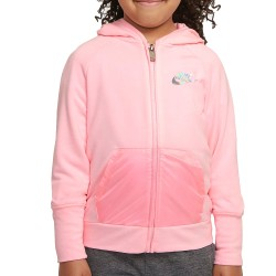 Nike Kids Sweatshirt Zip Hoodie Felpa con zip rosa 36I056-A6A