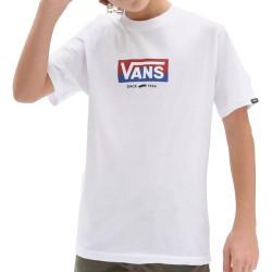 Vans By Easy Logo Ss Boys White (8-16 anni) VN0A5FN6WHT1