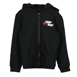Jordan Kids Essential Zip Hoodie felpa con zip nera 85A676-023