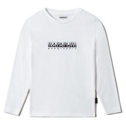 Napapijri T-Shirt Junior manica lunga bianca NP0A4GEJ0021