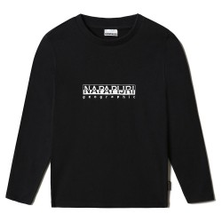 Napapijri T-Shirt Junior manica lunga nera NP0A4GEJ0411