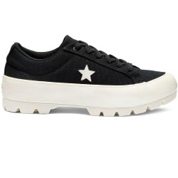 Converse One Star Lugged Ox nero e bianco 563425C