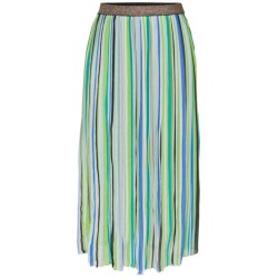 Only IRainbow Long Pleated Skirt Verde 15138465