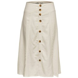 Only Palma HW Linen Mix Button Skirt gonna con bottoni